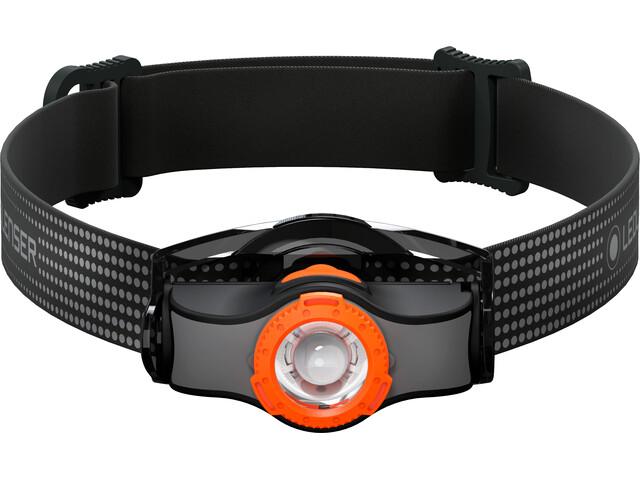 Led Lenser MH3 Faro Delantero, black/orange